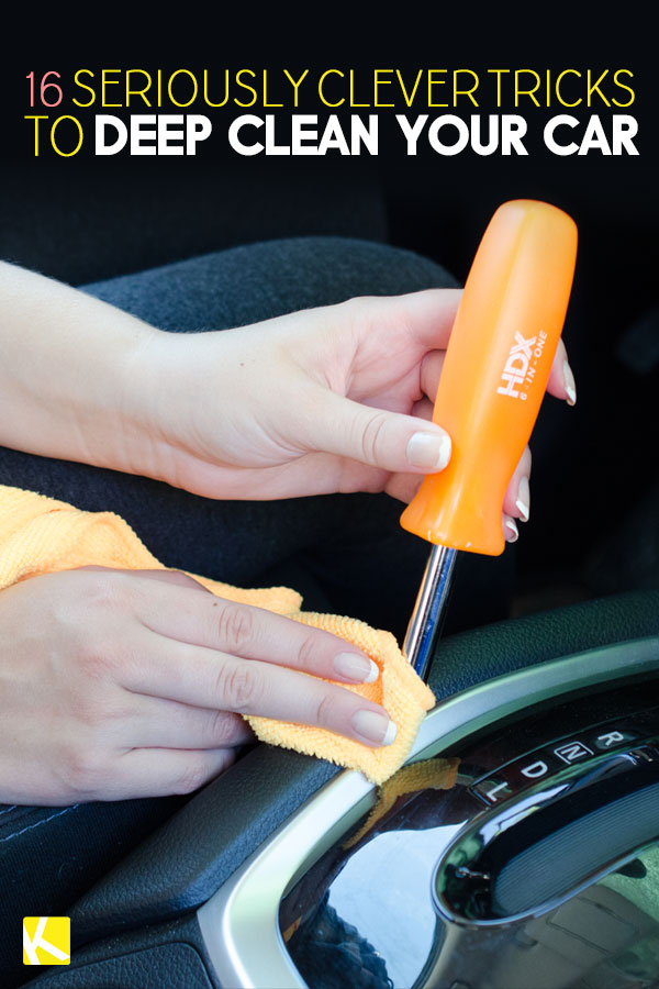 16 Seriously Clever Tricks to Deep Clean Your Car - The Krazy Coupon
