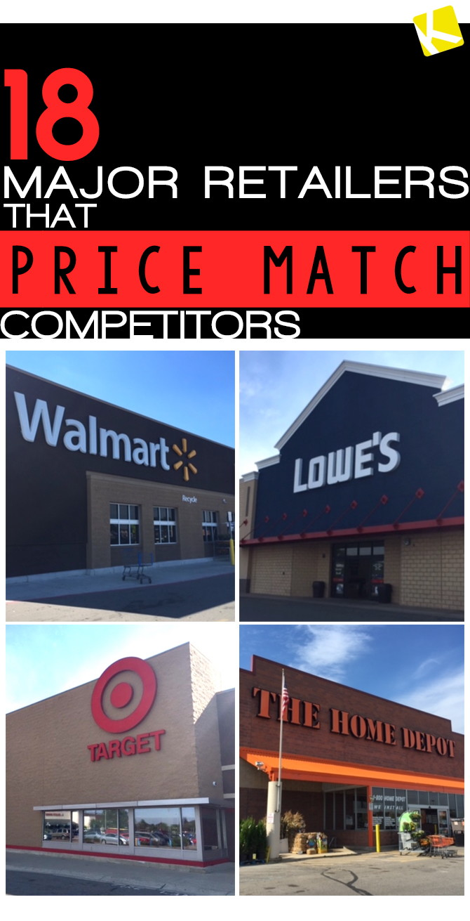 17 Major Retailers That Price Match Competitors - The Krazy Coupon Lady