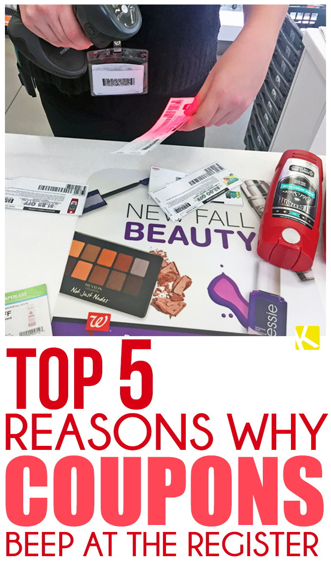 Top 5 Reasons Why Coupons Beep at the Register - The Krazy