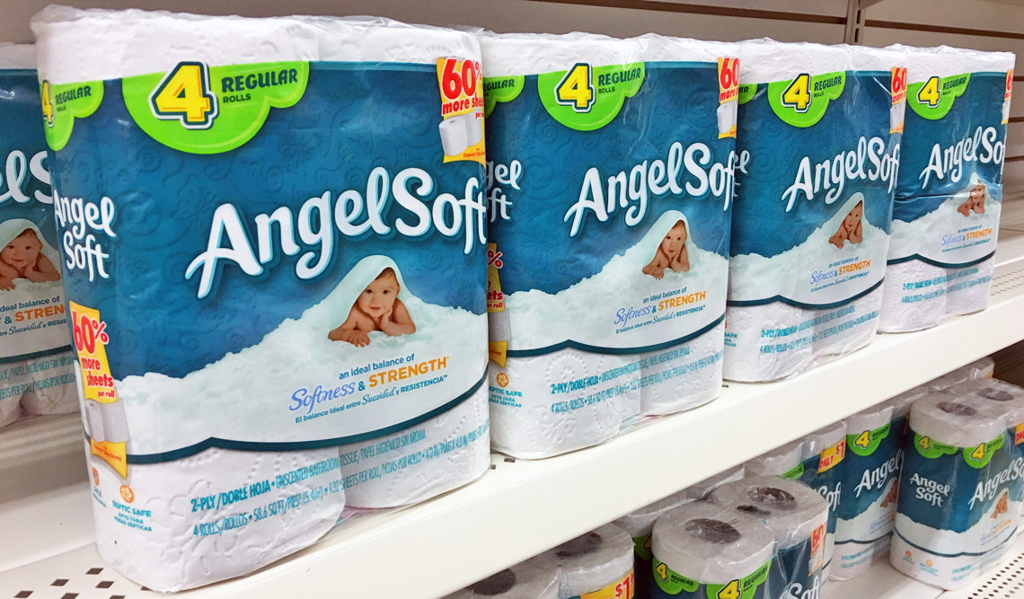 Angel Soft Bath Tissue 0 55 At Dollar Tree The Krazy Coupon Lady