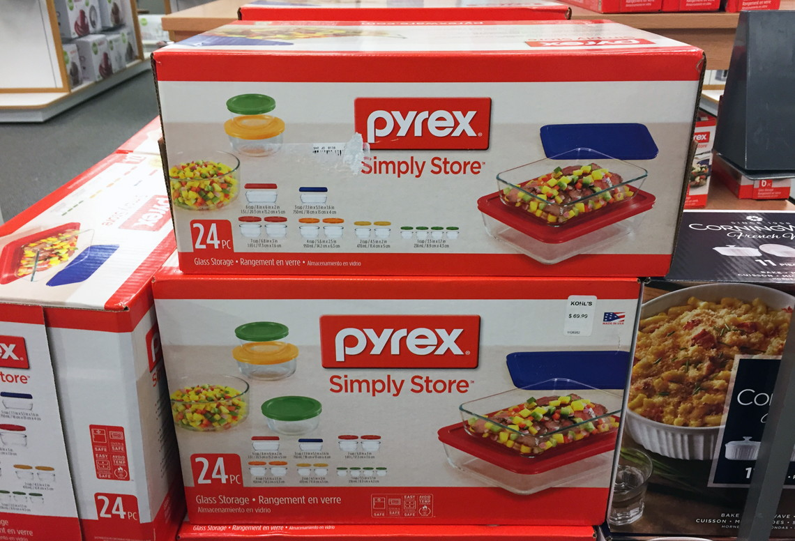 Elegant Pyrex 24 Pc Storage Set With Colored Lids, As Low As $27.99 At Kohlu0027s!    The Krazy Coupon Lady
