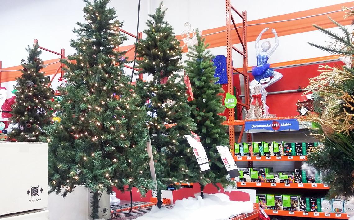 Home Depot 6 5 Ft Pre Lit Christmas Tree 49 98 Shipped