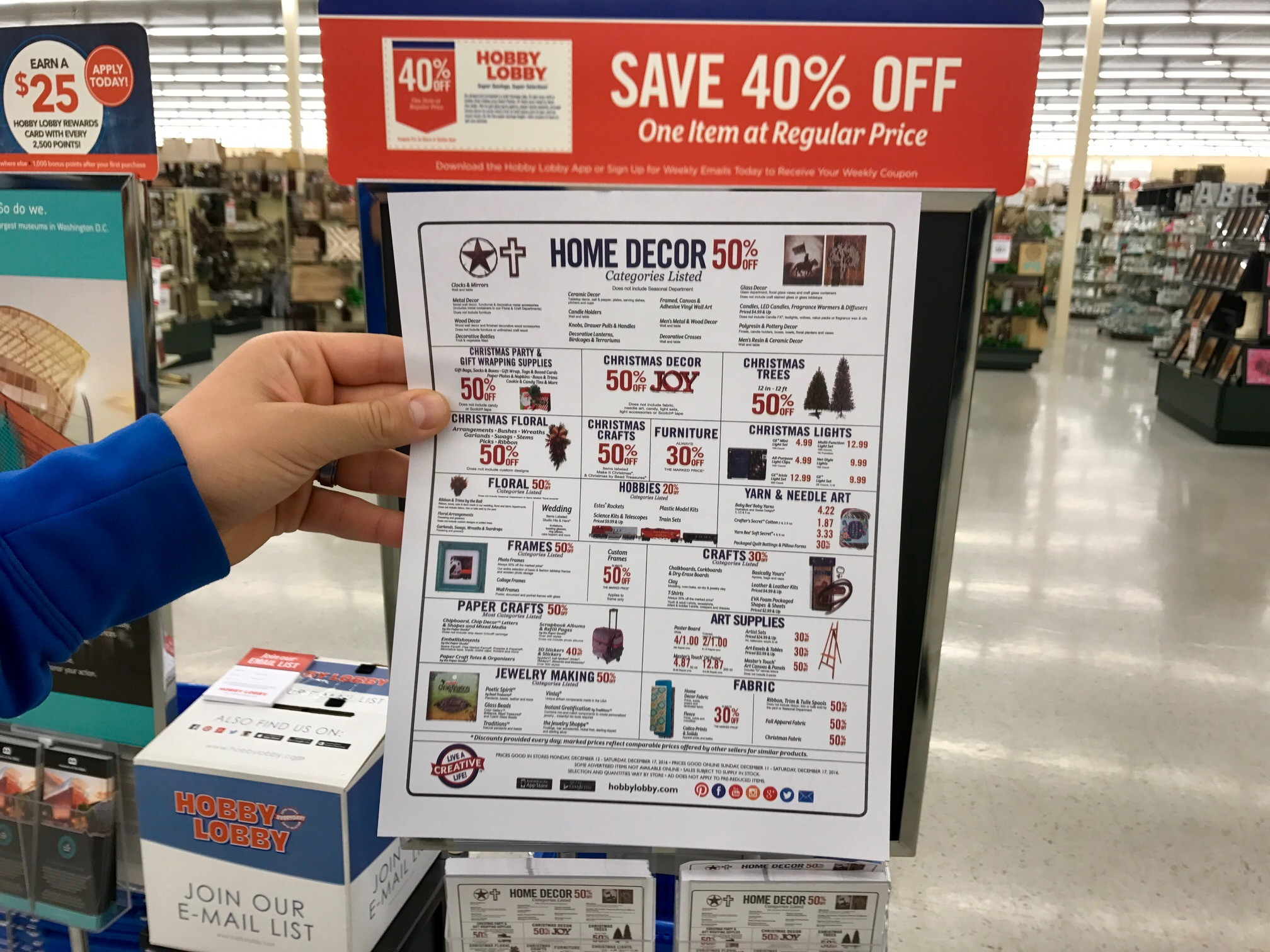 how to know when every item at hobby lobby goes on sale the krazy coupon lady - Hobby Lobby After Christmas Sale