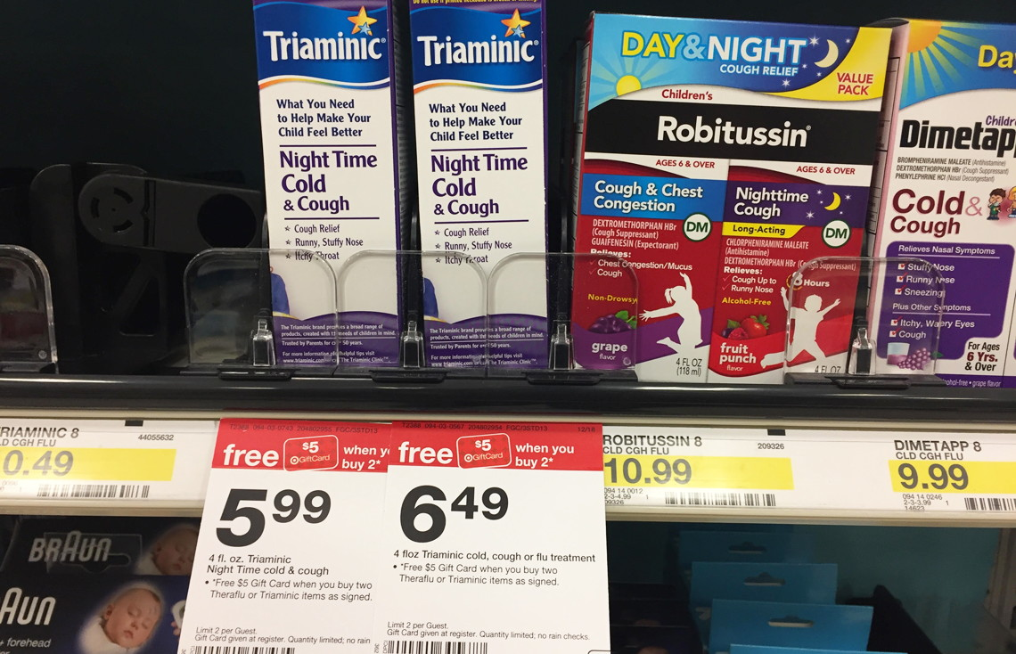 Triaminic Night Time Cold Cough Only 199 At Target The Krazy