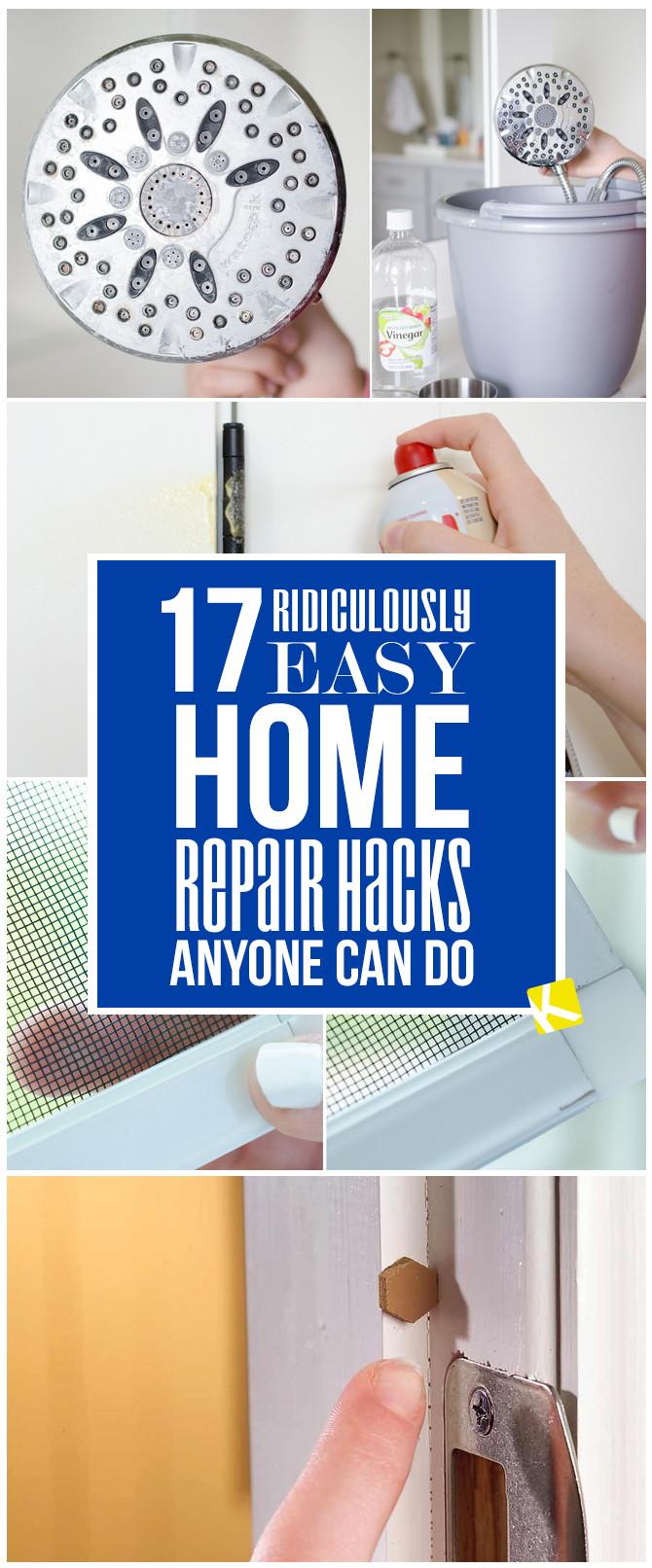 17 Ridiculously Easy Home Repair Hacks Anyone Can Do