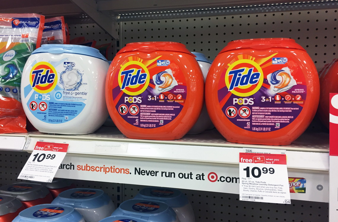 stock up tide pods 42 count only 4 39 at target the krazy