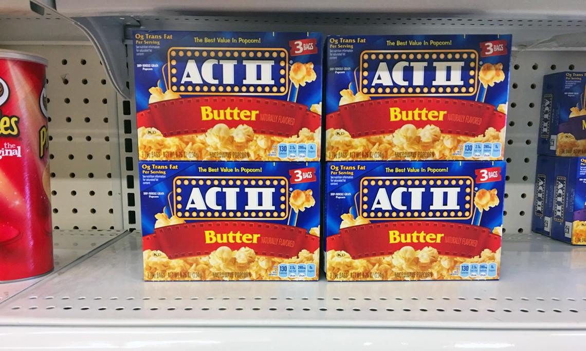 Act Ii Microwave Popcorn Only 0 75 At Dollar Tree The
