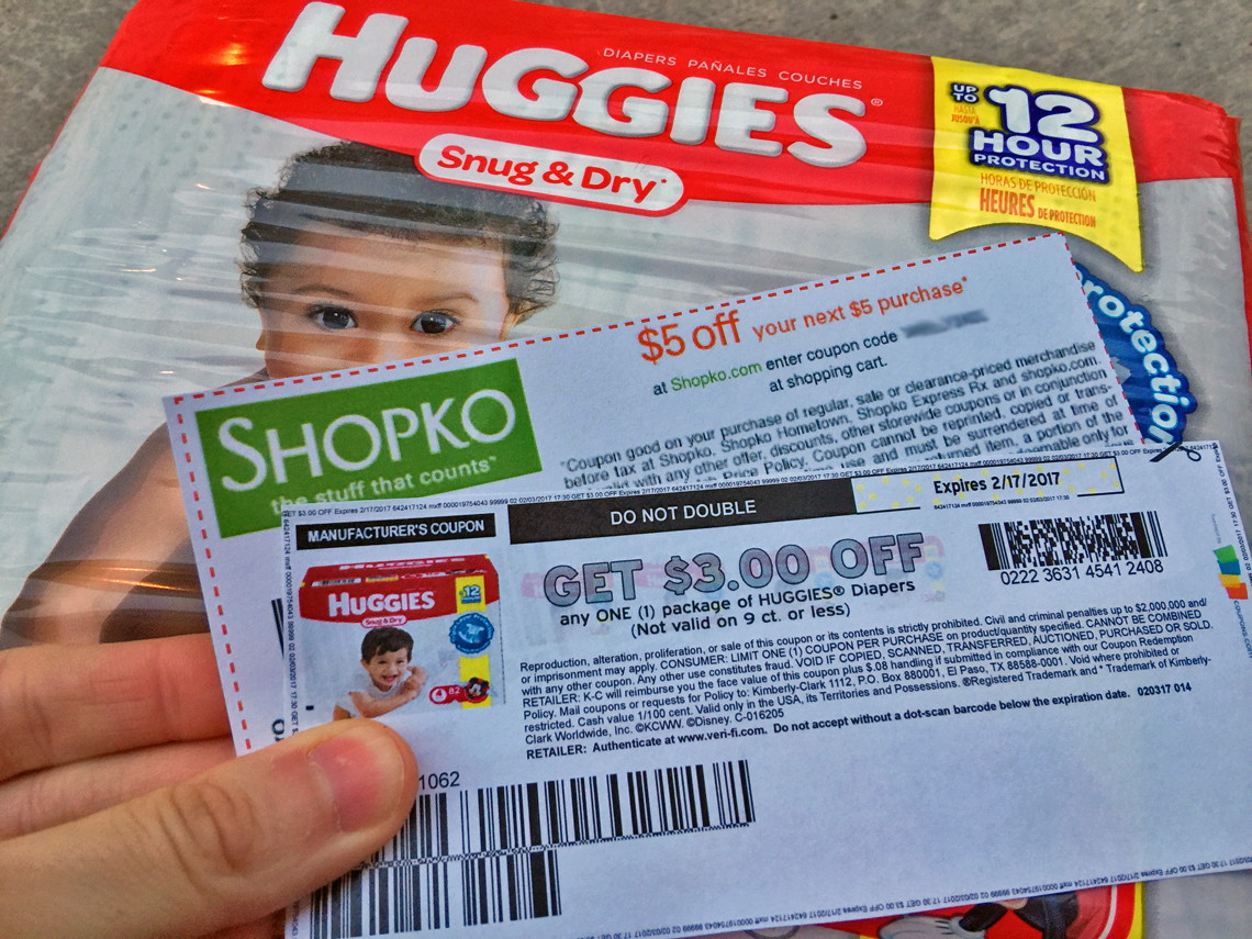 photograph relating to Shopko 20 Off Printable Coupon called Cost-free Huggies Comfortable Dry Jumbo Pack Diapers at Shopko! - The