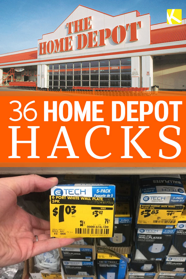 36 Home Depot Hacks You'll Regret Not Knowing - The Krazy