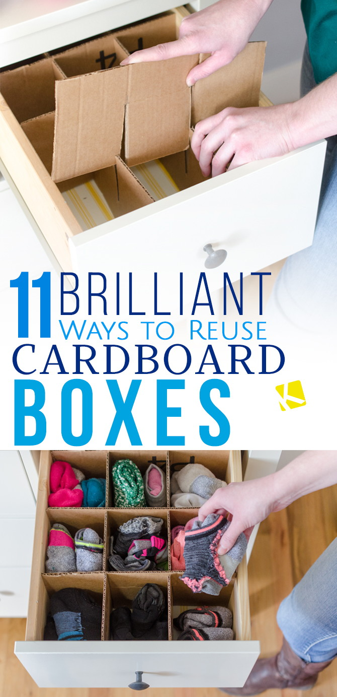 11 Awesome Ways To Repurpose An Empty Cardboard Box The