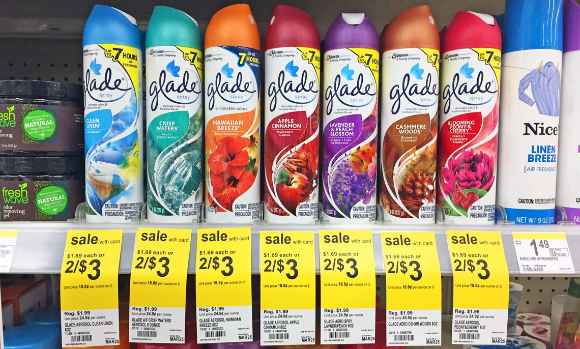 glade air freshener spray coupon