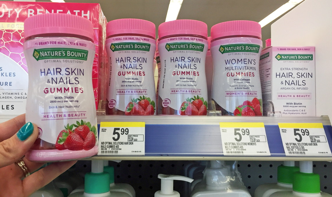 photograph about Nature's Bounty Coupon Printable $5 identified as Natures Bounty Hair, Pores and skin Nails Gummies, Just $1.99 at