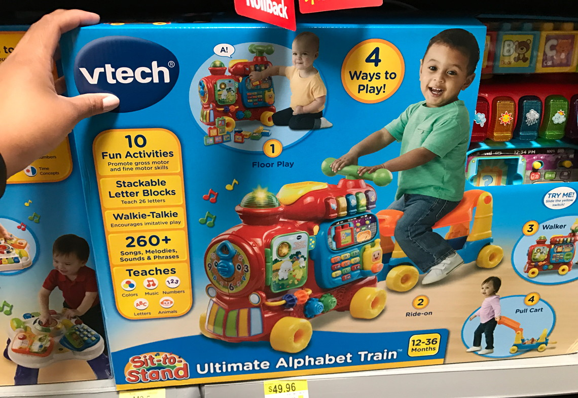 Vtech Sit To Stand Ultimate Alphabet Train 2323 At Walmart Reg