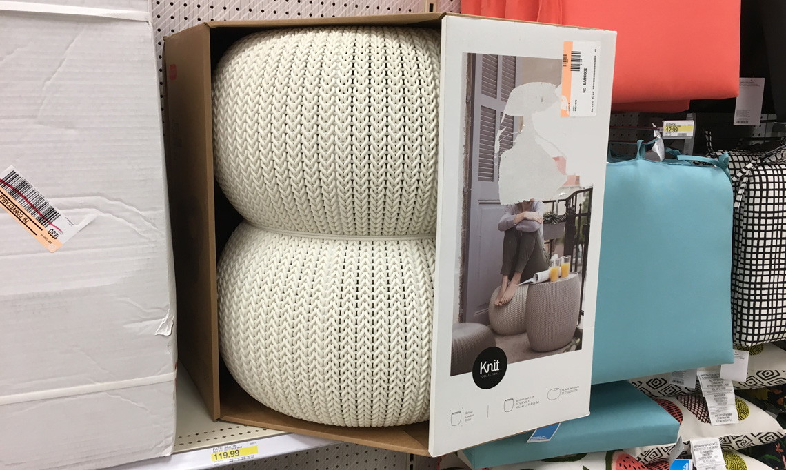 Keter Outdoor Pouf Set Only 4040 At TargetSave 40 The Krazy Interesting Target Outdoor Pouf