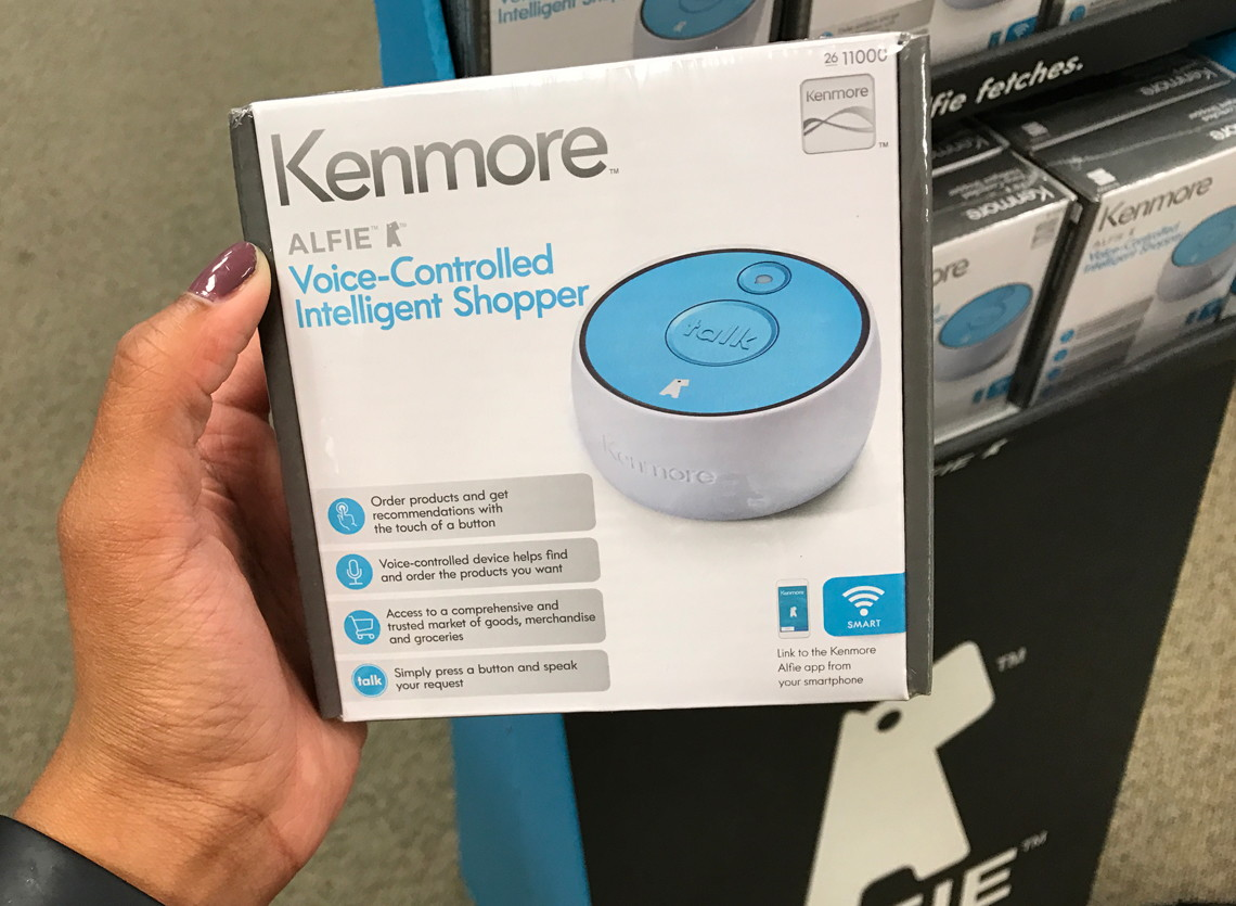 kenmore alfie. free kenmore alfie voice-controlled intelligent shopper at sears--reg. $49.99!