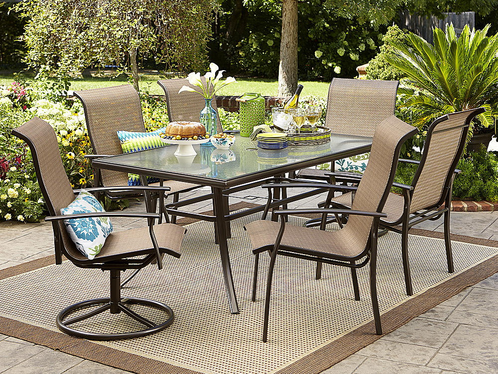 Garden Oasis Harrison 7 Pc Dining Set Only 257 29 At Sears More Patio Furniture Deals The Krazy Coupon Lady