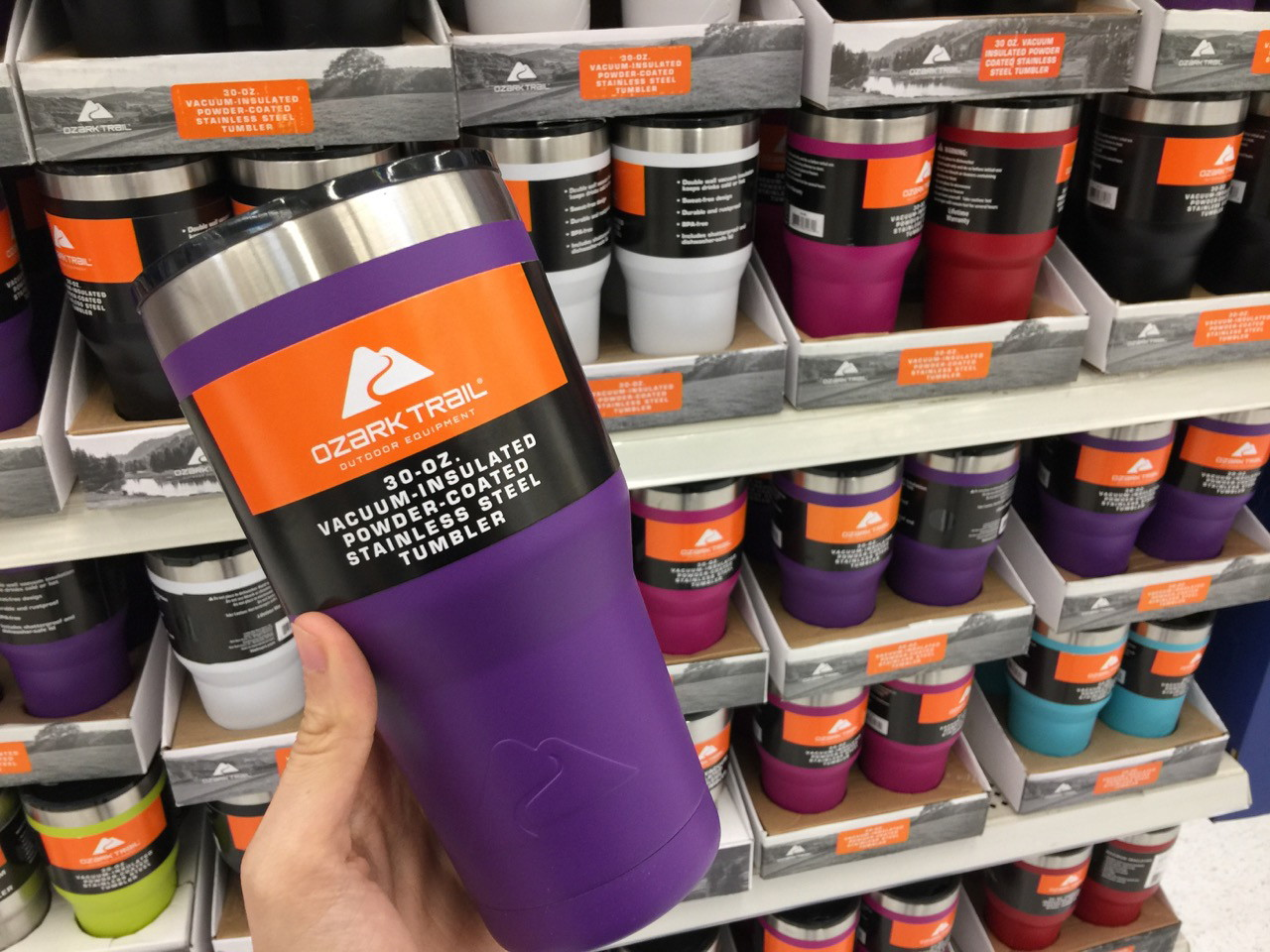 Ozark Trail 30 Oz Vacuum Insulated Tumbler Only 8 74 At