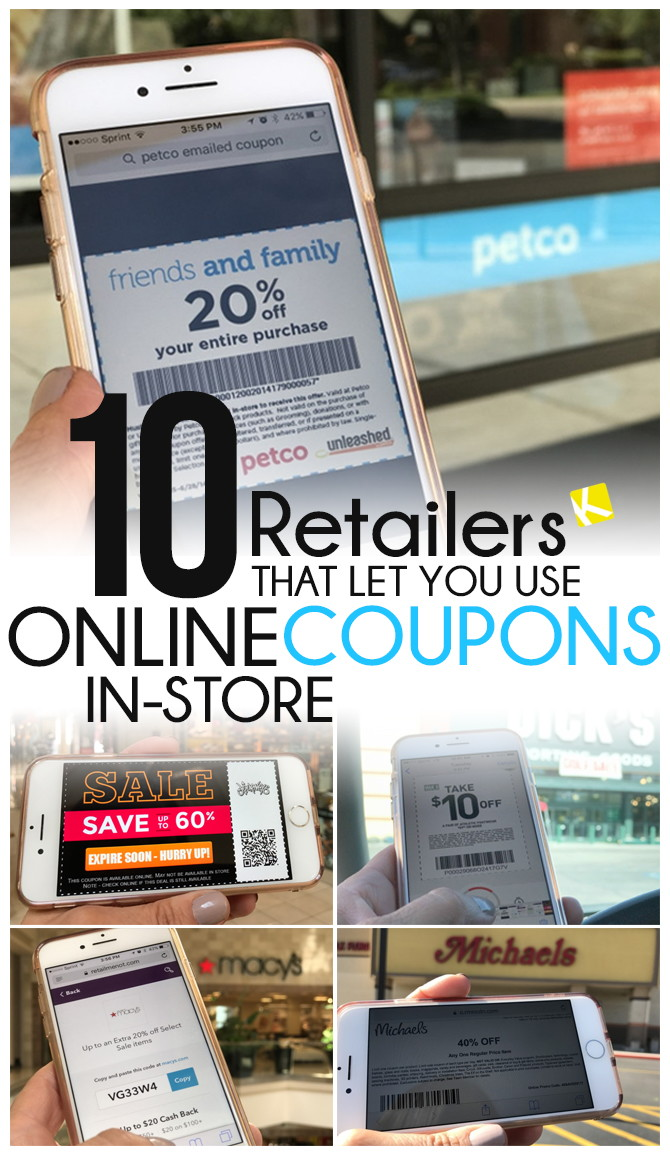 Retailers That Let You Use Online Coupons InStore The Krazy - Download free invoice template online fabric store coupon