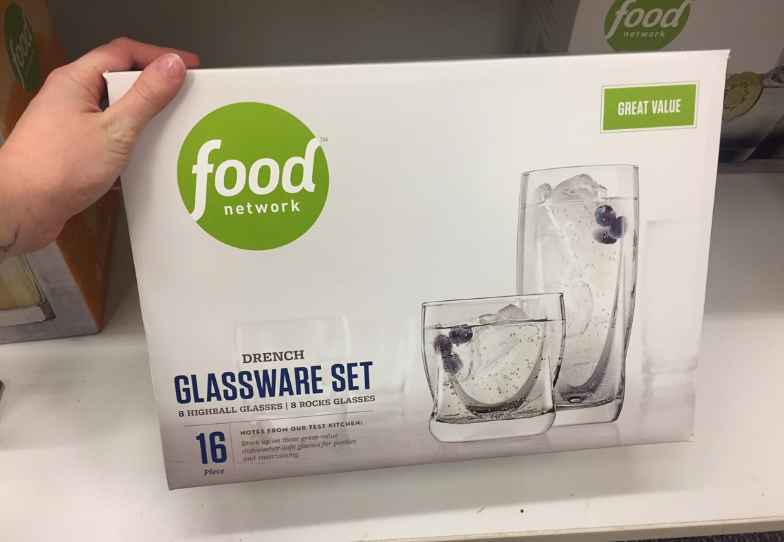 Food Network 16 Pc Glassware Sets, Only $16.99 at Kohl\'s--Reg ...