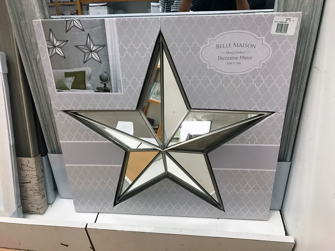 Belle Maison Mirrored Star Wall Decor Only 19 59 Shipped