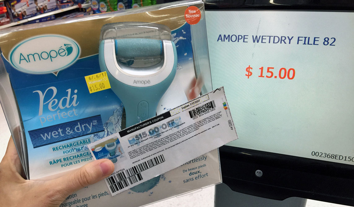 photo relating to Amope Printable Coupon identified as No cost Amope Soaked Dry Rechargeable Foot Report at Walmart (Reg