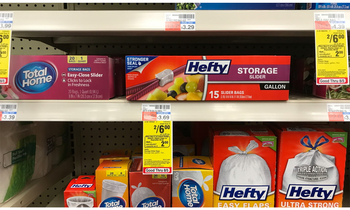 Hefty Gallon Size Slider Bags Only $1.50 at CVS! - The Krazy Coupon Lady & Hefty Gallon Size Slider Bags Only $1.50 at CVS! - The Krazy Coupon ...