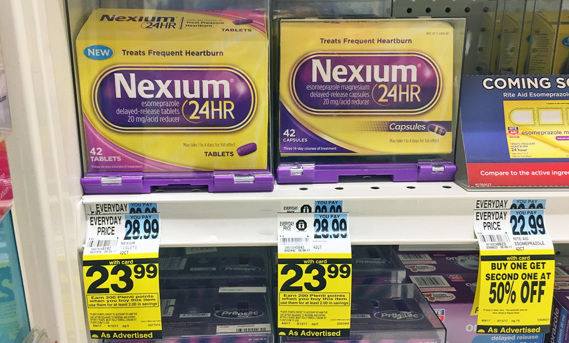 photograph regarding Nexium Coupons Printable named $7.00 Coupon! Nexium 24HR Heartburn Reduction, Simply $14.99 at