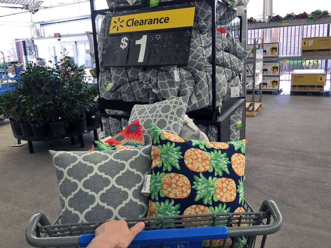Stock Up! Mainstays Outdoor Throw Pillows, Only $1.00 At Walmart!   The  Krazy Coupon Lady