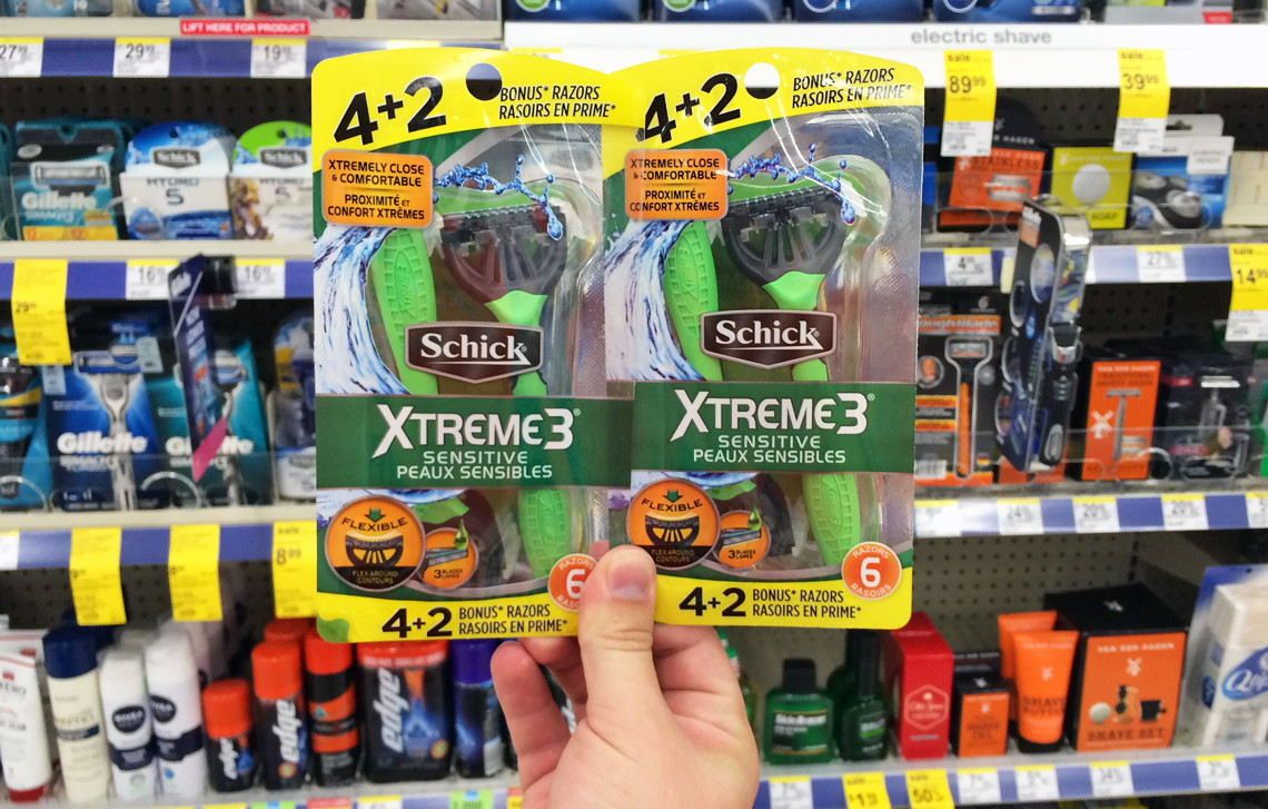 buy 2 schick xtreme3 disposable razors 4 ct 599 sale price through 923