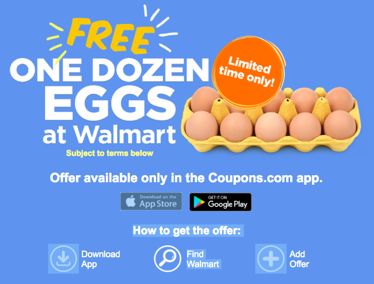 picture regarding Egg Coupons Printable identified as Absolutely free Dozen Eggs with Application Obtain at Walmart! - The Krazy