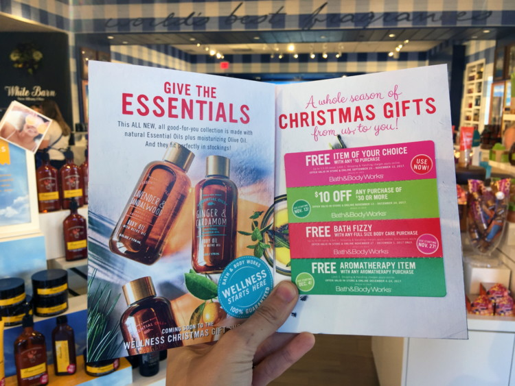 In order to snag the booklet  I visited my local Bath   Body Works store  and purchased one of the cheapest items I could find  a  1 75 PocketBac. Free Christmas Preview Coupon Booklet w  Any Purchase at Bath