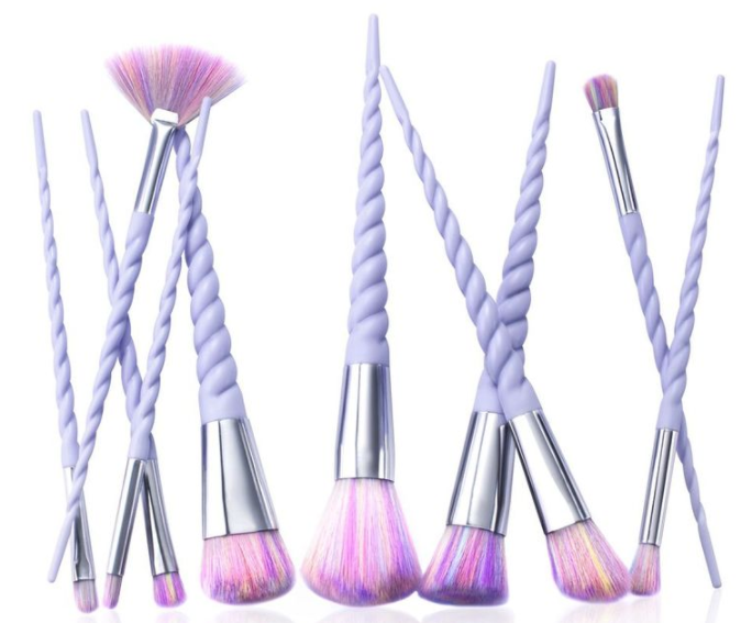 Zodaca 10 Pc Spiral Handle Makeup Brush Set, $9.99 from Hollar!