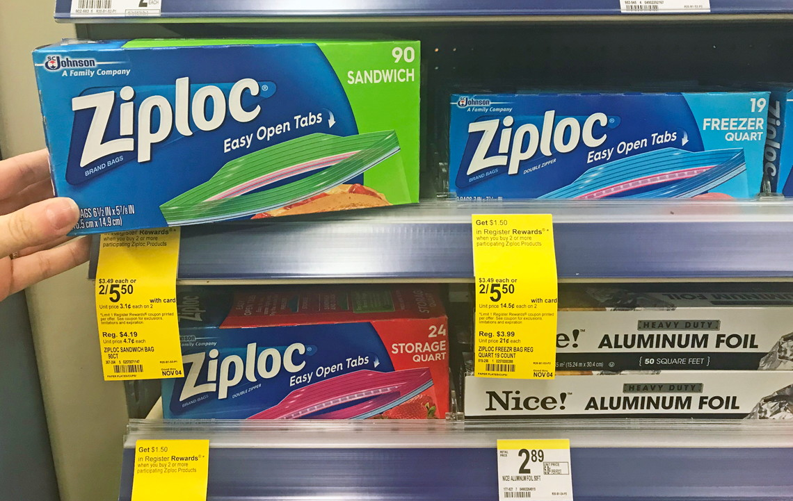 2 Ziploc Bags Or Containers 75 Each When You Price Through 11 4