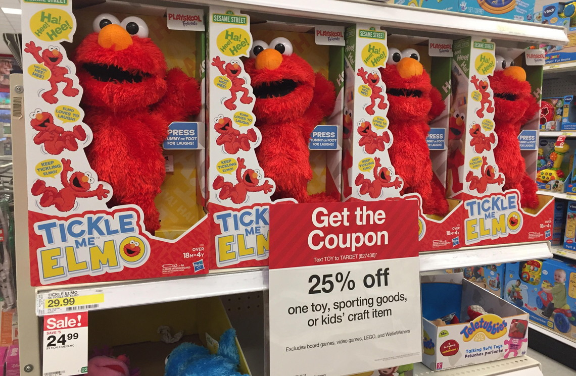 Tickle Me Elmo Only 17 81 At Target Reg 29 99 The Krazy