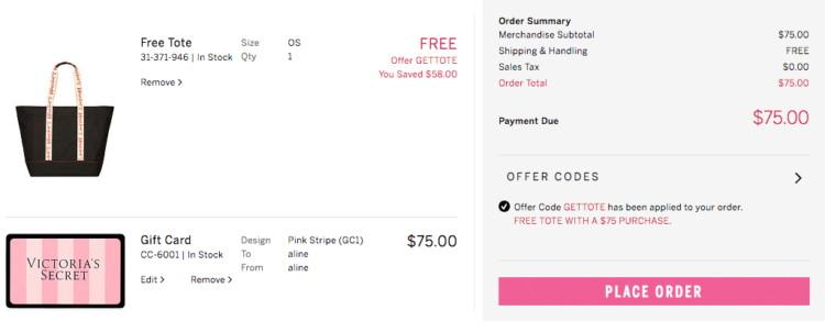 4d3fc7ba3f0b9 Free $58 Victoria's Secret Signature Tote w/ $75 Purchase-Works on ...