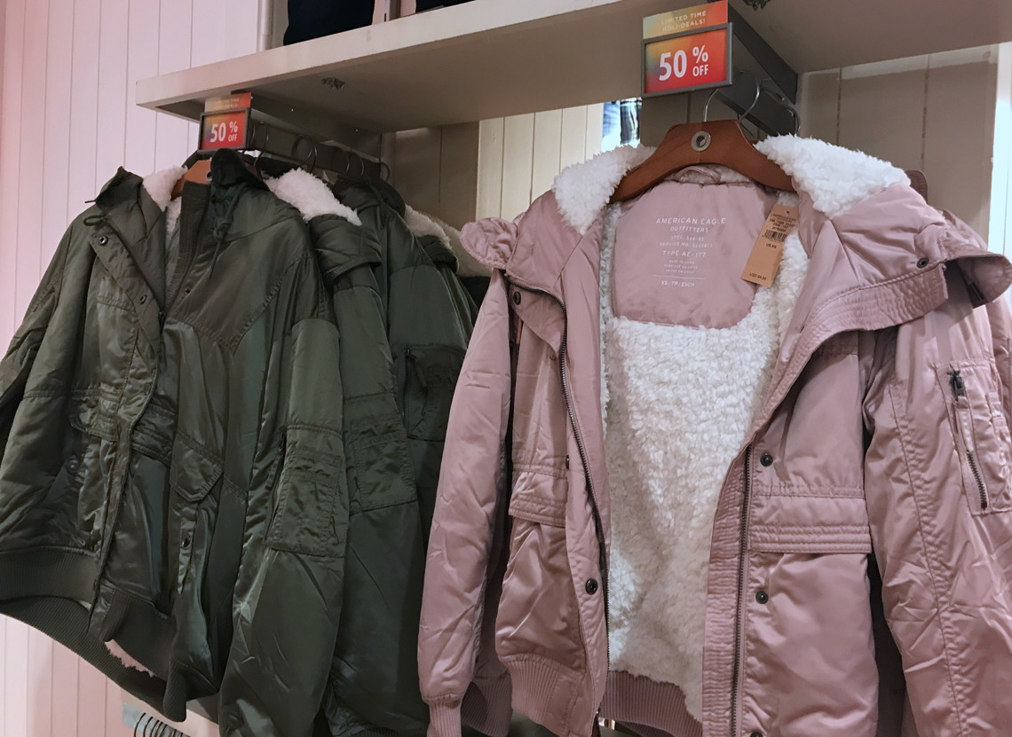 9947d06b5 50% Off Jackets & Cold Weather Accessories at American Eagle! - The ...