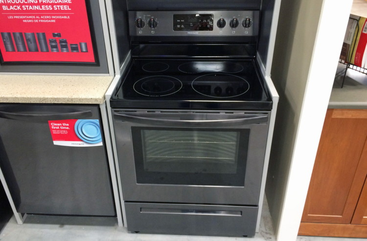 buy 1 frigidaire smooth surface 5element 54cu ft electric range black stainless steel reg