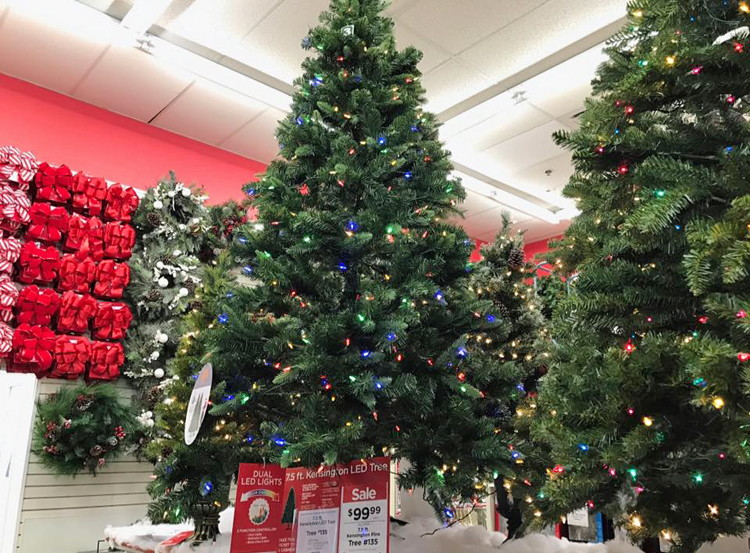 buy 1 75 ft pre lit green full kensington pine artificial christmas tree reg 29999 9999 sale price through 1125 - Christmas Trees At Michaels