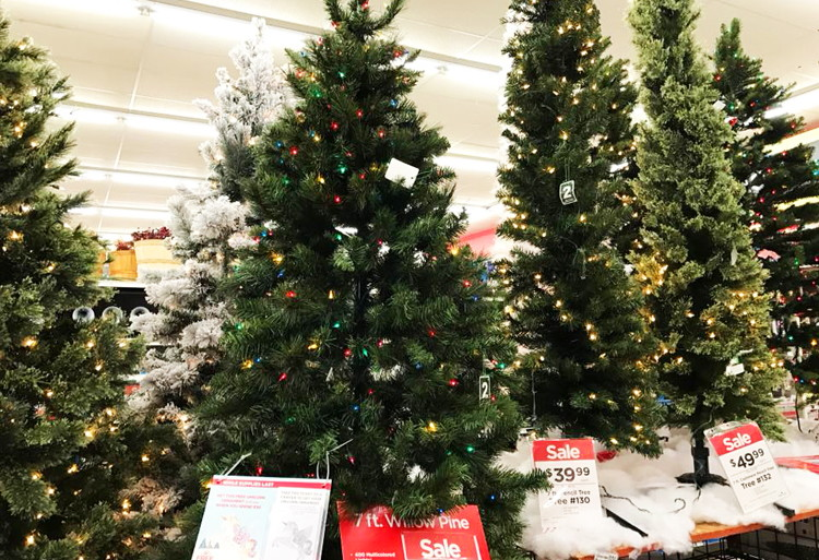 buy 1 7 ft pre lit green full willow pine artificial christmas tree reg 22999 7999 sale price through 1125 free shipping on purchases of 4900 - Michaels Artificial Christmas Trees