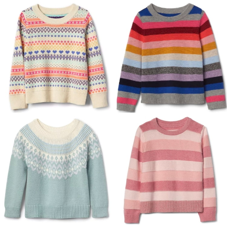 Updated 11/26: Toddler Girl Crazy Stripe Sweaters at the Gap ...