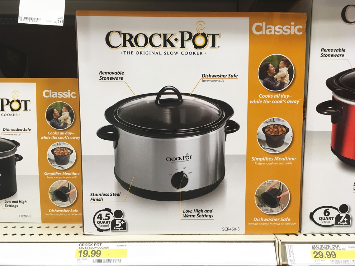 buy 1 crockpot 45quart manual slow cooker sale price through save 5 with redcard free shipping final price 950