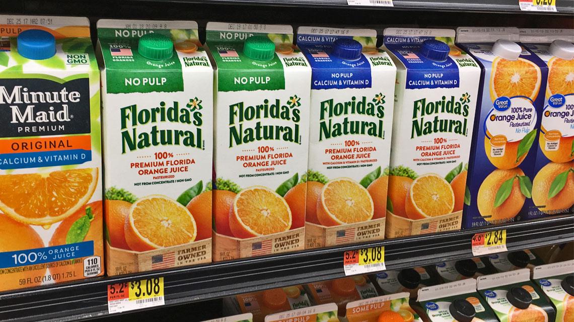 Florida's Natural Orange Juice, Only $1 08 at Walmart - Save $2 00