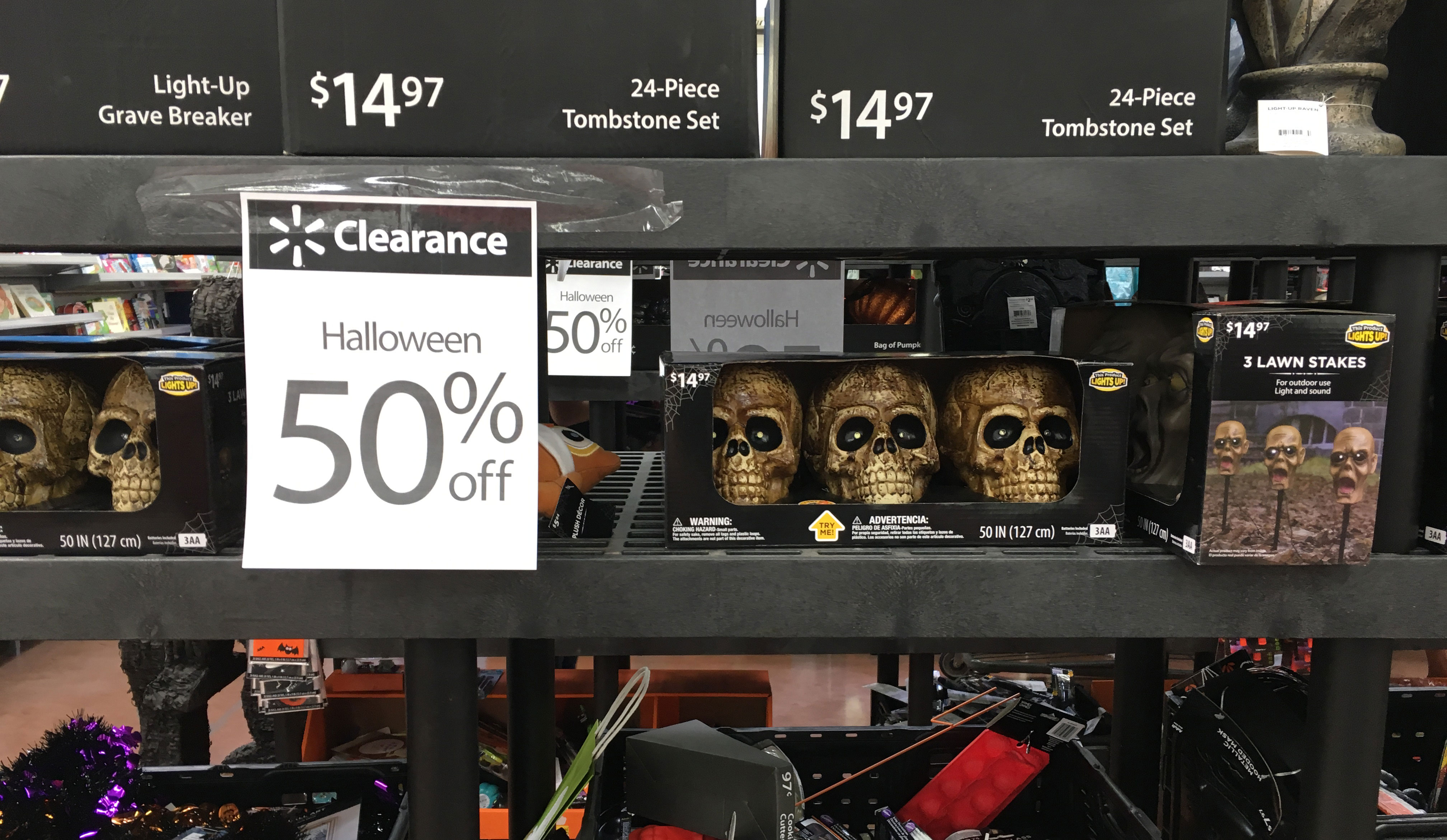 Hurry Tide Over 50 Off At Walmart Shopping With Natalie Oct 5 6 50 Off Halloween Clearance At