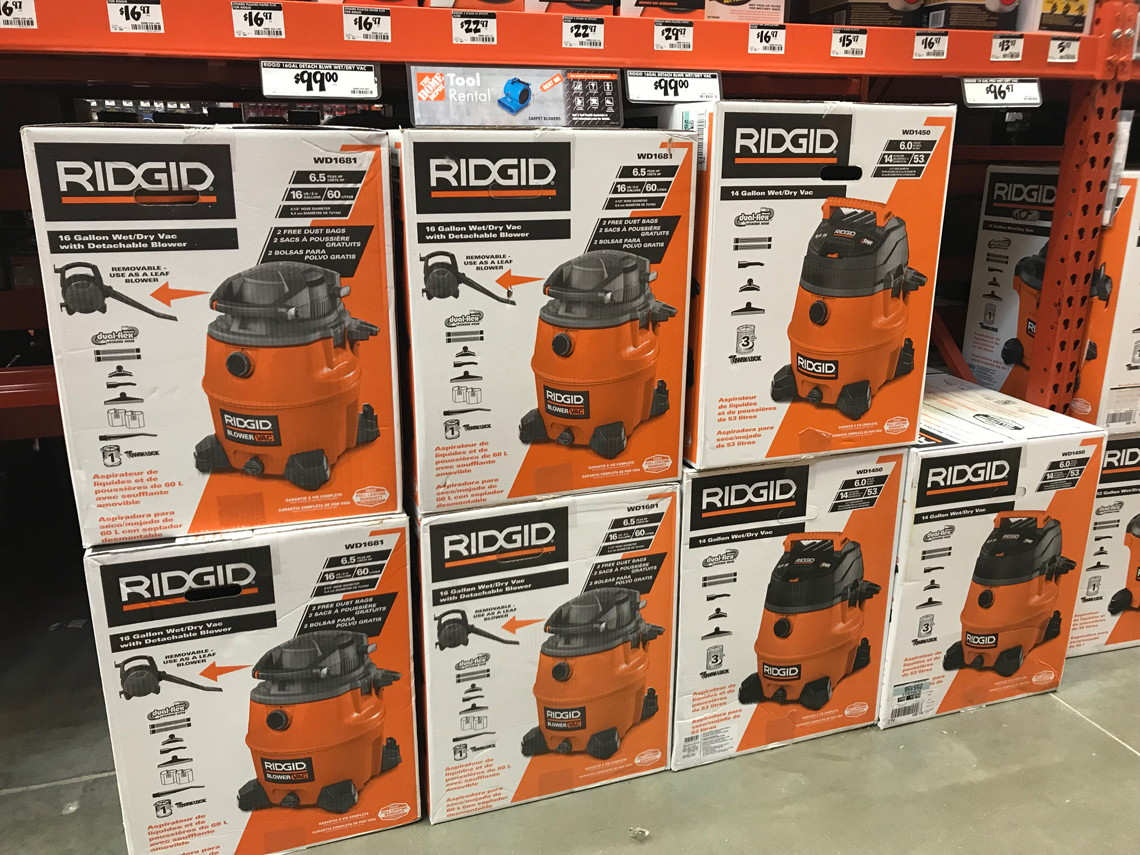Ridgid 16 Gal Wet Dry Vac Only 39 88 At Home Depot Save 60