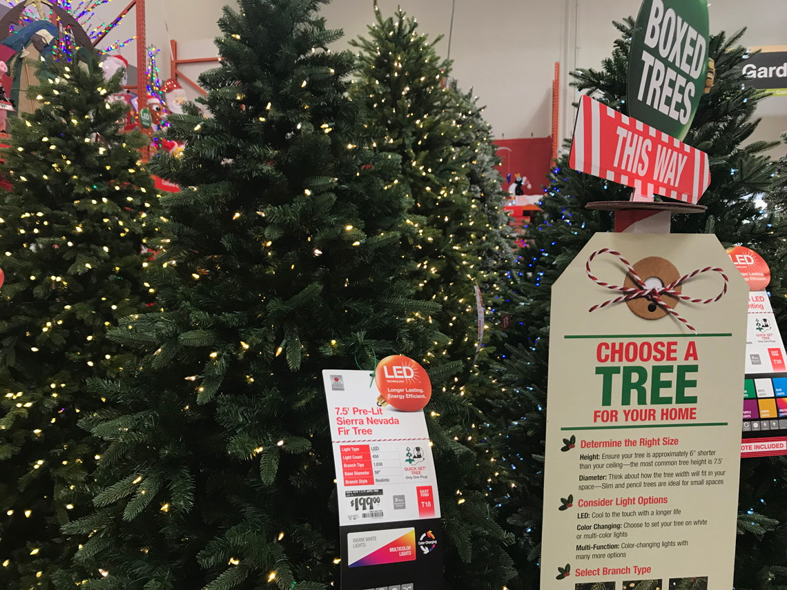 Home Depot 75' Color Changing Christmas Tree Wremote Only