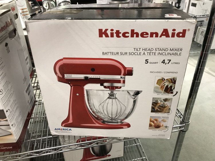 KitchenAid 5-Quart Stand Mixer with Glass Bowl, $209.99 ...