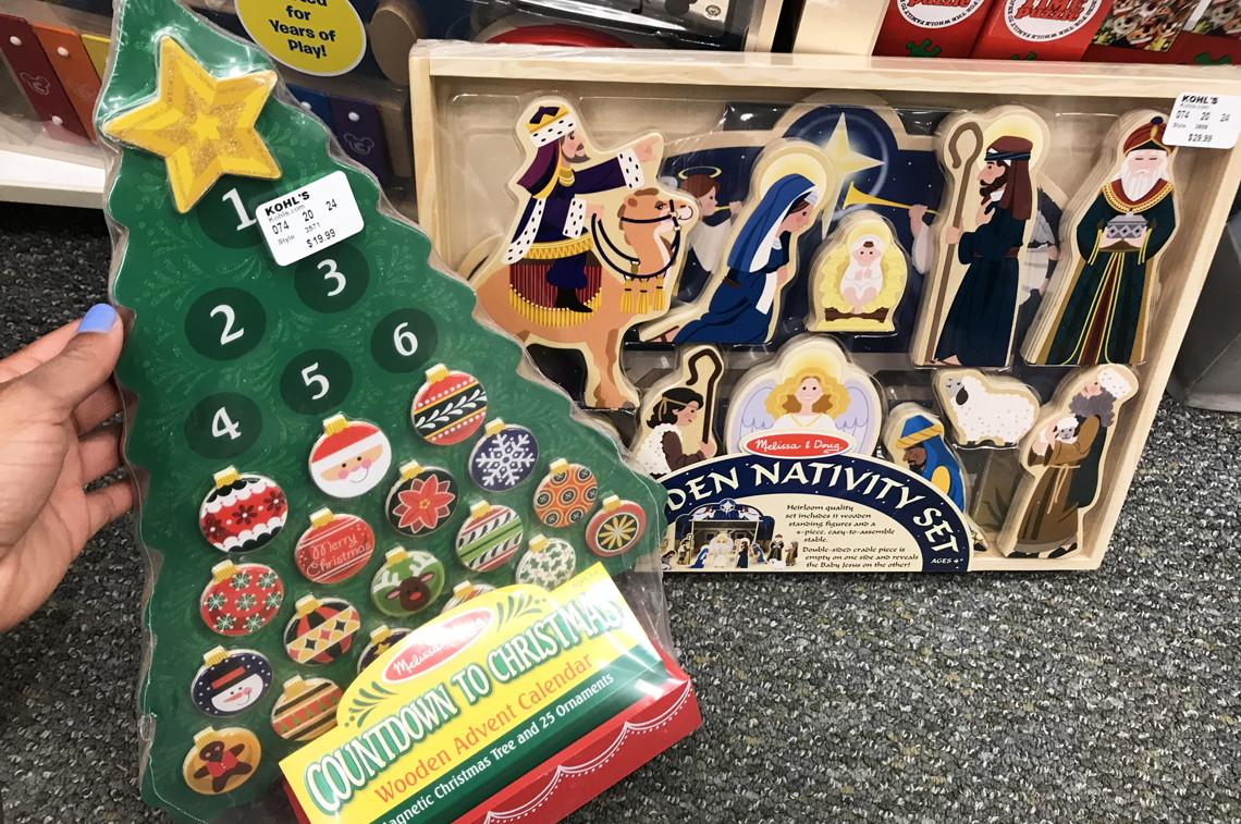 Melissa Doug Wooden Nativity Advent Calendar Inchworm