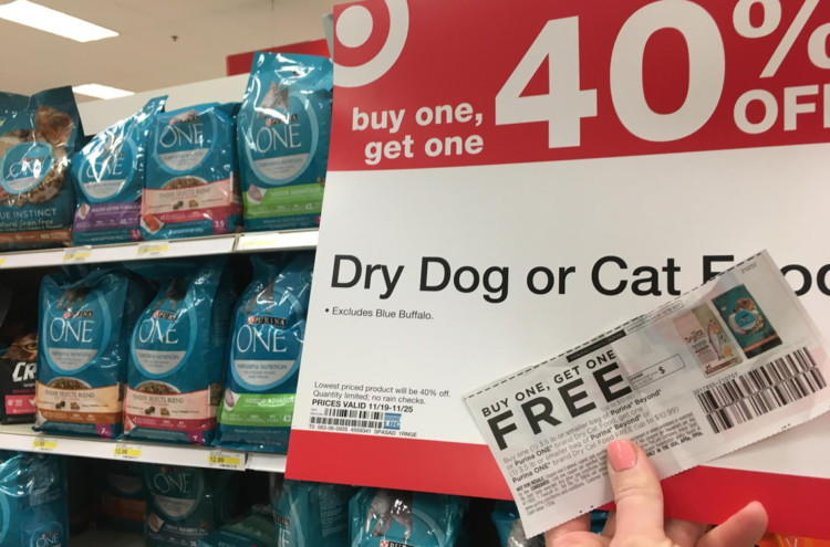 Purina Beyond Cat Food >> BOGO Coupon + Promotion: Purina ONE Dry Cat Food Bags, Only $2.96 at Target! - The Krazy Coupon Lady