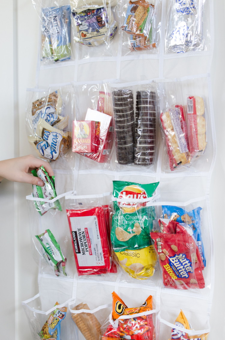 Make grabbing snacks easy for kids.