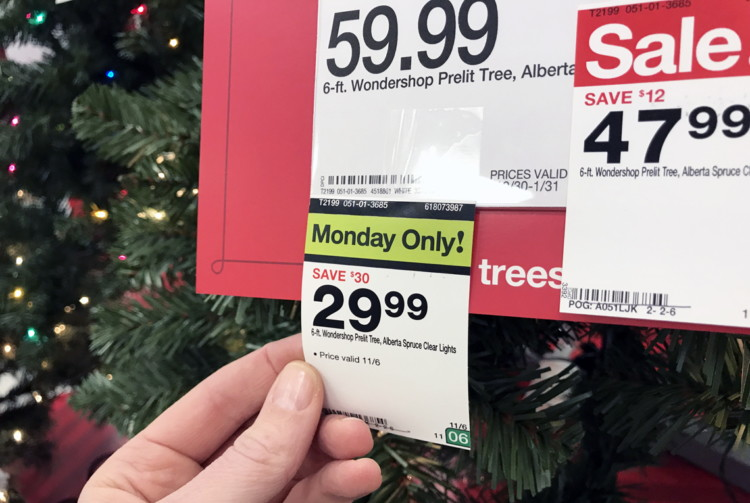 buy 1 wondershop 6 ft pre lit slim artificial christmas tree reg 5999 4799 sale price 116 only add to cart for black friday price free shipping - Christmas Tree Prices